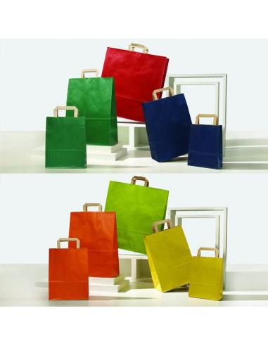 immagine completa shopper in carta maniglia piatta.